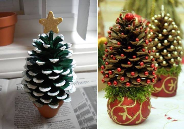 40+ Creative Pinecone Crafts For Your Holiday Decorations   U003e Pinecone  Christmas Tree