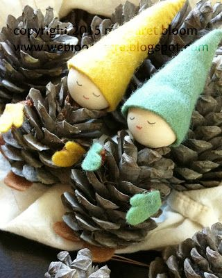40+ Creative Pinecone Crafts for Your Holiday Decorations --> Pinecone Gnomes