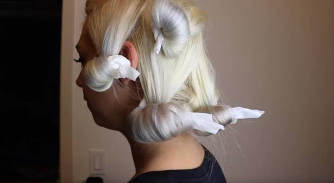 Creative Ideas - How to Make No Heat Hair Curls Using Toilet Paper