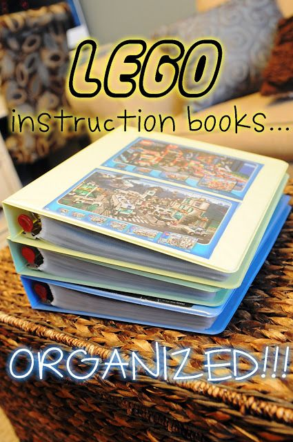 30+ Brilliant Mom Hacks That Will Make Your Life Easier --> Make a binder to organize LEGO instruction books.