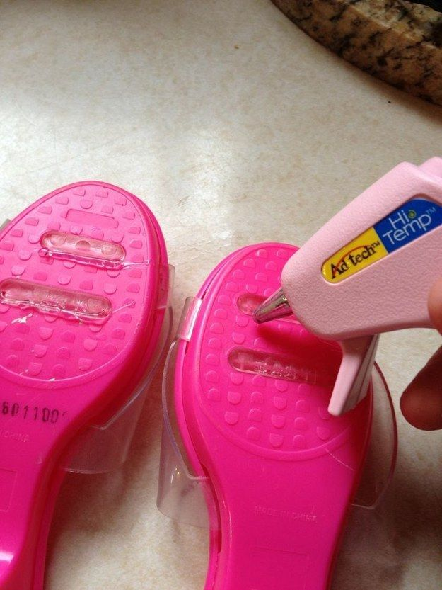 30+ Brilliant Mom Hacks That Will Make Your Life Easier --> Apply a little bit of glue on the bottom of kids' shoes to prevent slipping.