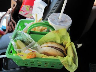 30+ Brilliant Mom Hacks That Will Make Your Life Easier --> Use a shower caddy as a food tray to keep food organized in the car.