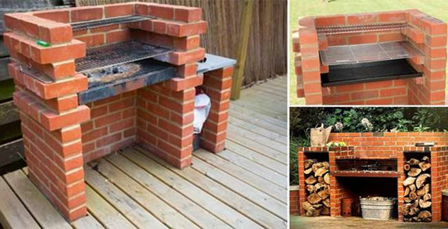 Creative Ideas   DIY Backyard Brick Barbecue
