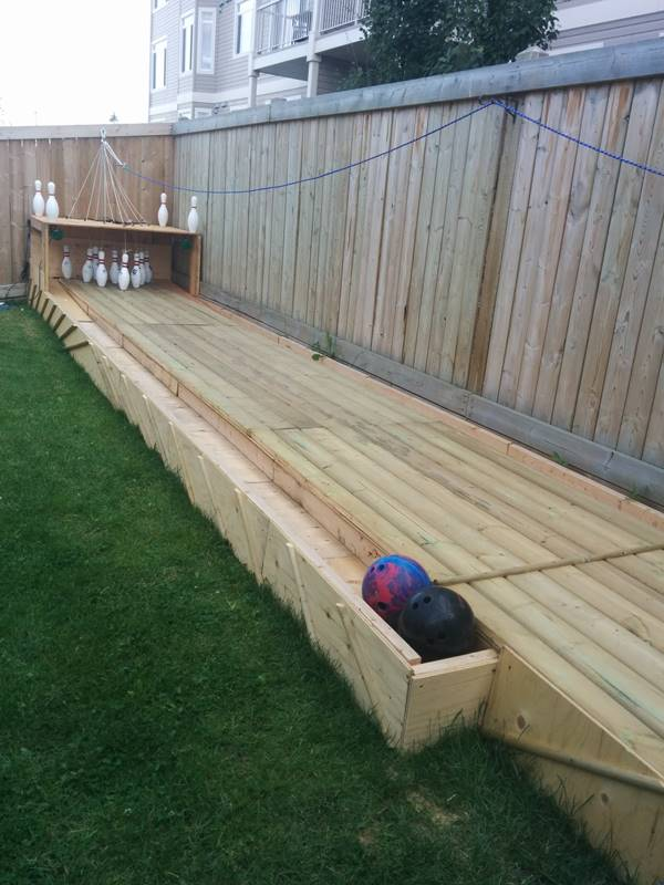 Creative Ideas DIY Backyard Bowling Alley