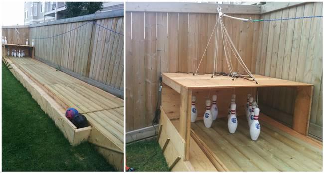 Creative Ideas DIY Backyard Bowling Alley I Creative Ideas - Creative backyard ideas