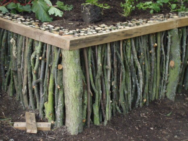 30+ Creative DIY Raised Garden Bed Ideas And Projects --> Natural Wood Raised Garden Bed