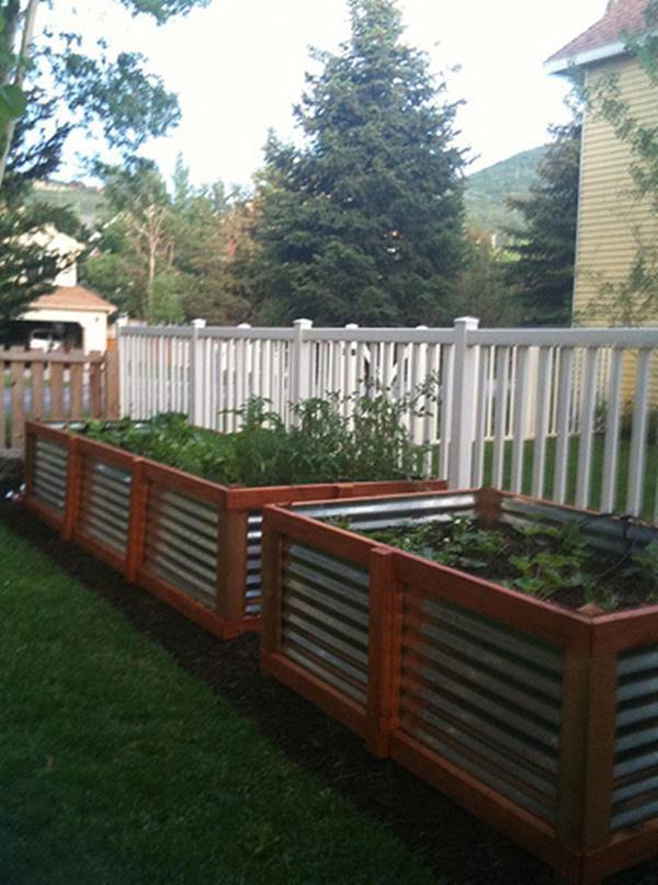 30+ Creative DIY Raised Garden Bed Ideas And Projects --> Galvanized steel gardening beds
