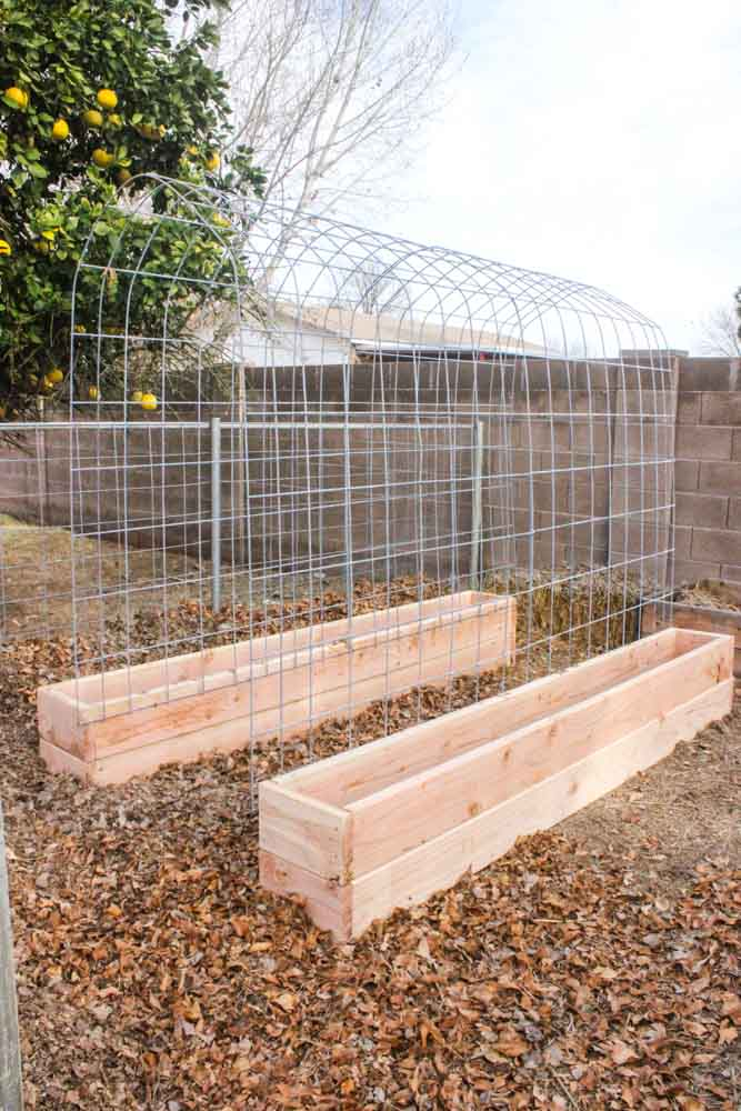 30+ Creative DIY Raised Garden Bed Ideas And Projects --> DIY Trellis & Raised Garden Box Combo