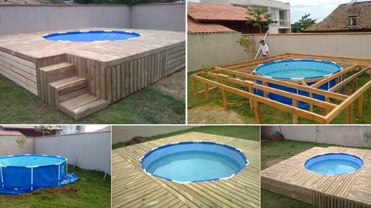 Creative Ideas Diy Above Ground Swimming Pool With Pallet