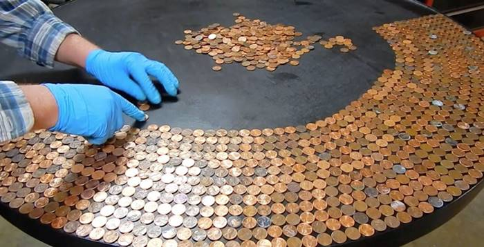 Creative Ideas Diy Amazing Penny Table Top