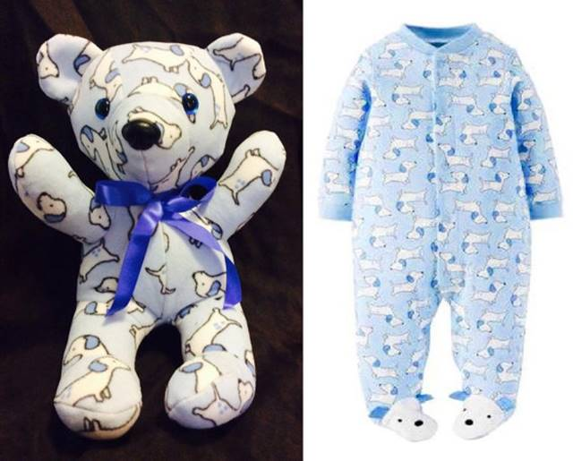 Teddy Bears Made Out Of Baby Clothes