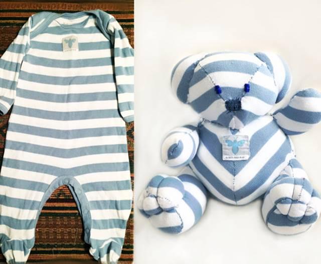 5a3cd9dbb269 Creative Ideas - Turn Outgrown Baby Clothes Into Keepsake Teddy ...