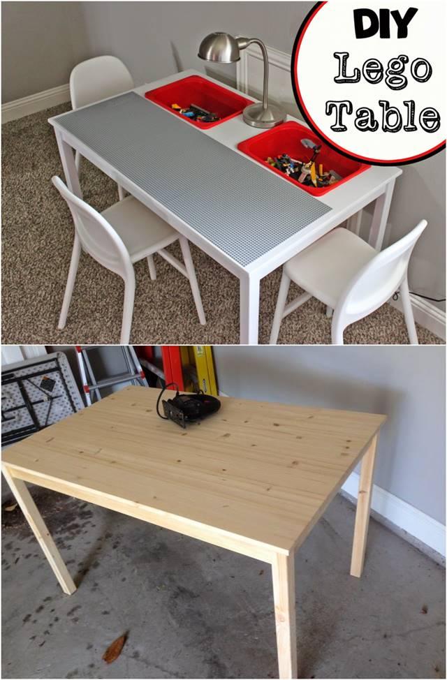 creative ideas how to transform an ikea table into a lego table i creative ideas. Black Bedroom Furniture Sets. Home Design Ideas