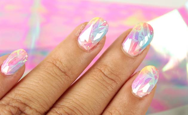 Ideas diy shattered glass nail art creative ideas diy shattered glass nail art prinsesfo Choice Image