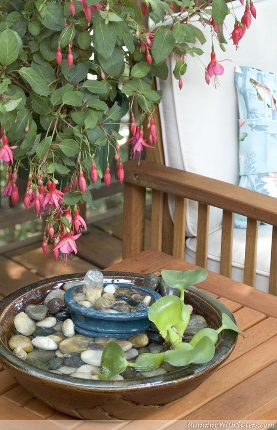 40+ Creative DIY Water Features For Your Garden --> DIY Wonderful Waterfall Birdbath