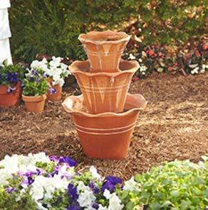 40+ Creative DIY Water Features For Your Garden --> How to Make a Terra Cotta Pot Fountain