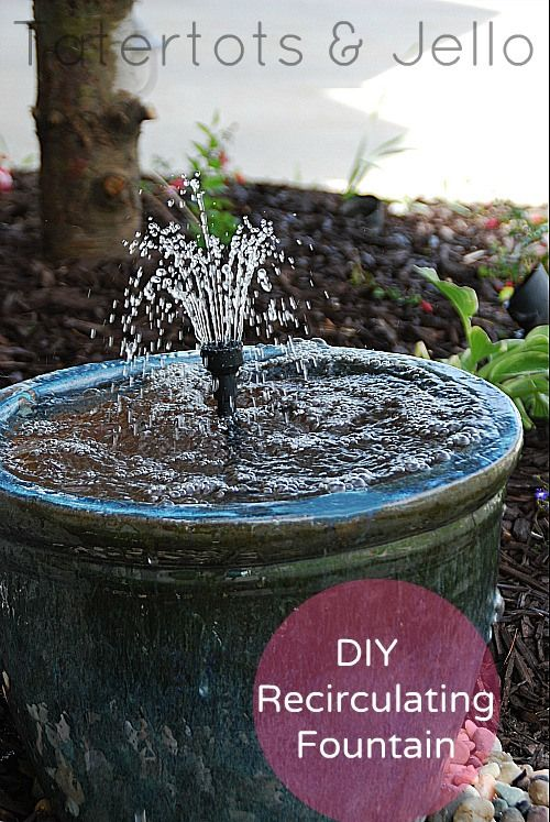 40+ Creative DIY Water Features For Your Garden --> Spruce up Your Outdoor Space with a DIY Recirculating Fountain