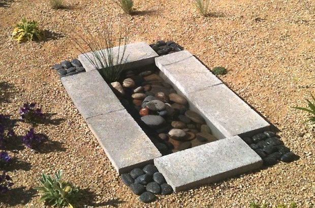 40+ Creative DIY Water Features For Your Garden --> DIY Contemporary Garden Water Feature For Less Than $30