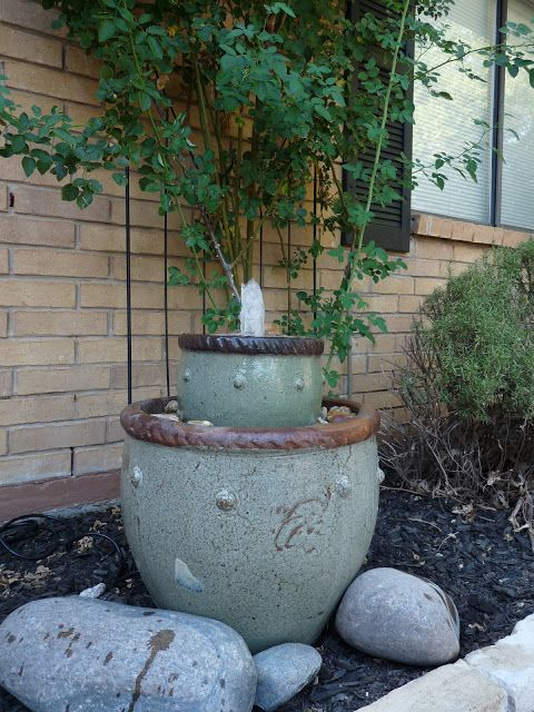 40+ Creative DIY Water Features For Your Garden --> DIY Flower Pot Fountain
