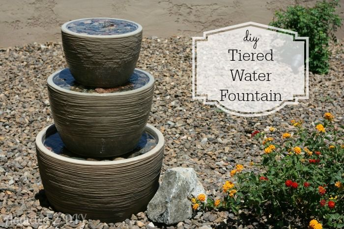 40+ Creative DIY Water Features For Your Garden --> DIY Tiered Water Fountain