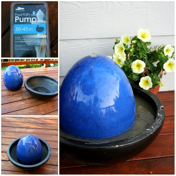 40+ Creative DIY Water Features For Your Garden --> DIY Ceramic Egg Fountain