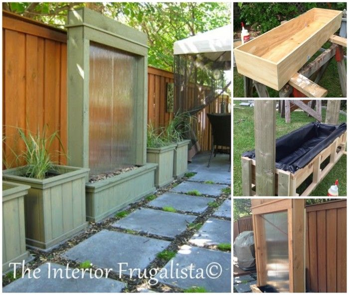 40 creative diy water features for your garden i for Backyard water feature plans