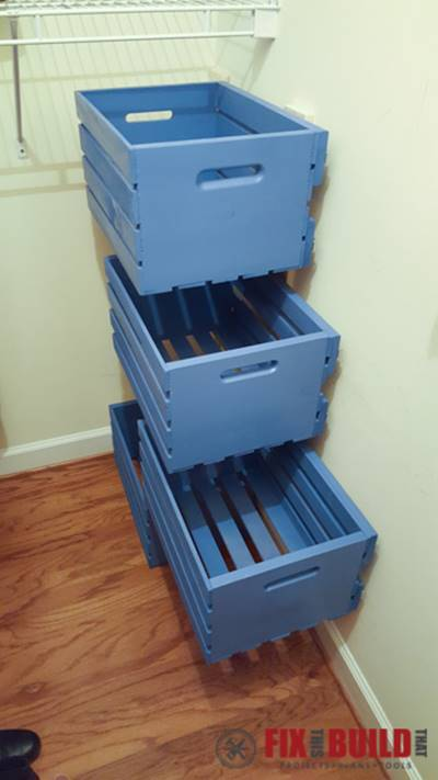 Genial ... Creative Ideas   DIY Pull Out Wood Crate Storage To Organize Your Closet