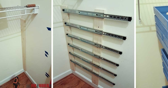 Creative Ideas   DIY Pull Out Wood Crate Storage To Organize Your Closet