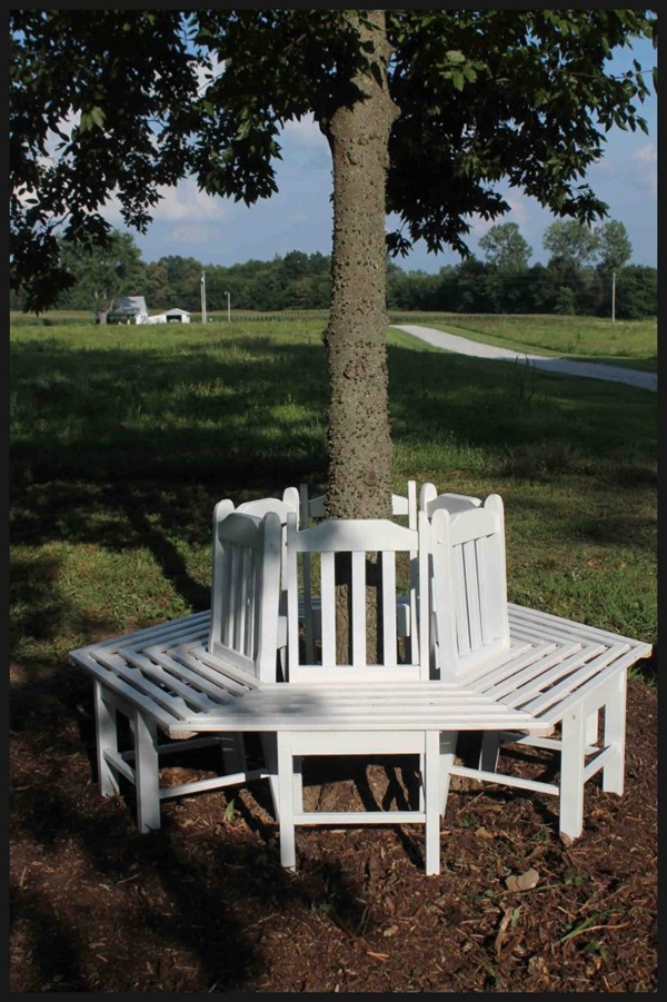 Circle Tree Bench ~ Creative ideas how to build a bench around tree using