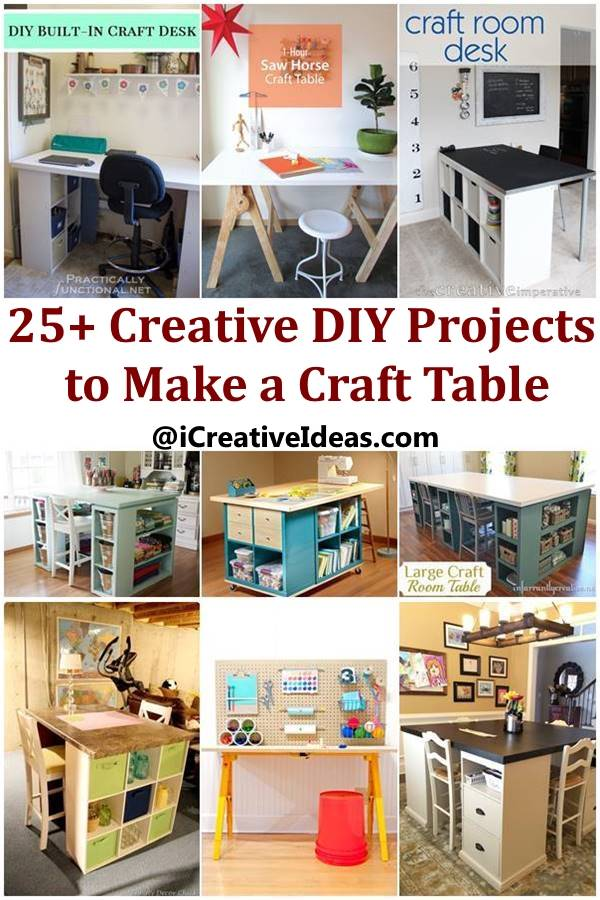 25+ Creative DIY Projects to Make a Craft Table