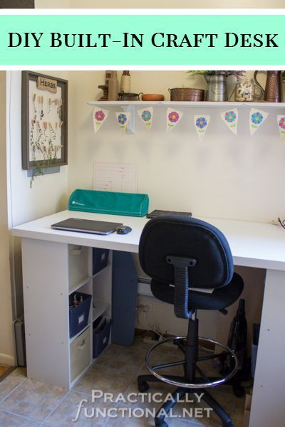 25+ Creative DIY Projects to Make a Craft Table --> Make Your Own Built-In Craft Desk