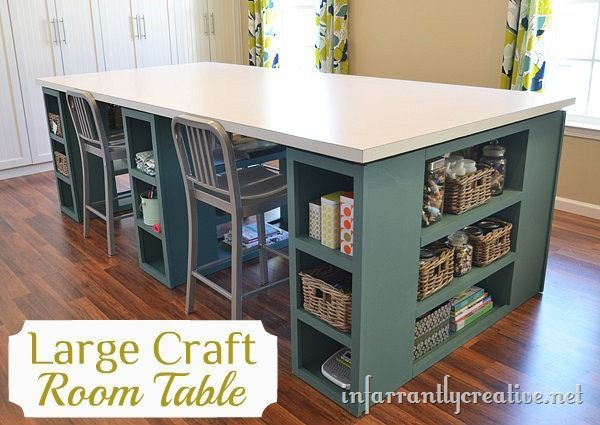 25+ Creative DIY Projects to Make a Craft Table --> DIY Large Craft Table