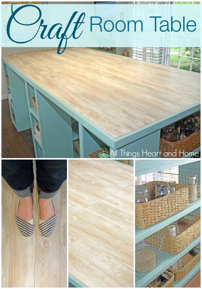 25+ Creative DIY Projects to Make a Craft Table --> DIY Craft Room Table