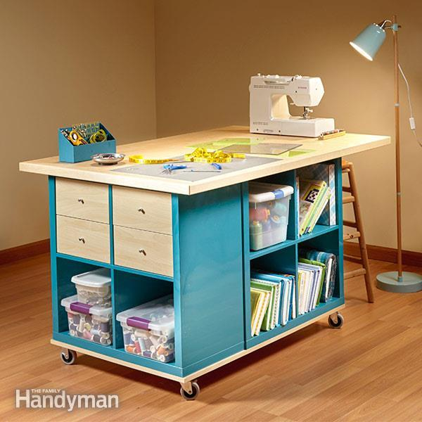 25+ Creative DIY Projects to Make a Craft Table --> Ikea Kallax Hack: Craft Room Storage
