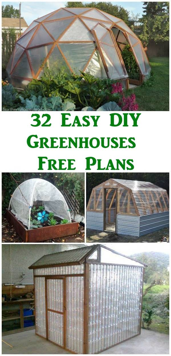 32 Easy DIY Greenhouses with Free Plans