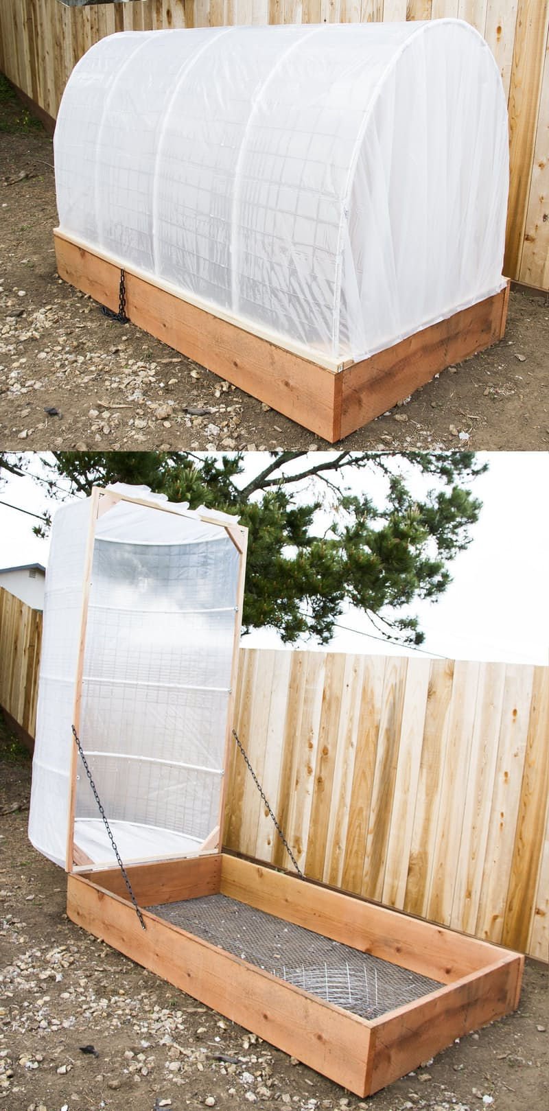 DIY Raised Bed Greenhouse Garden with Removable Cover