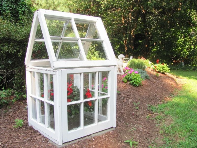 Small Greenhouse Made From Old Windows