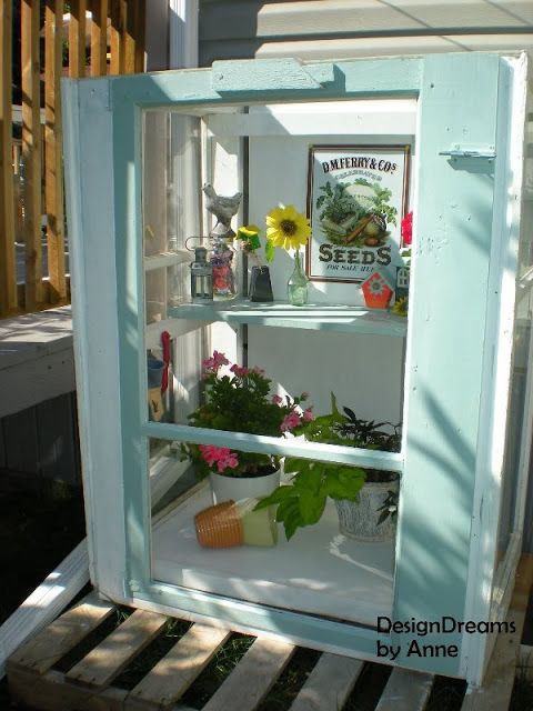 How to Build a Mini Greenhouse from Storm Windows