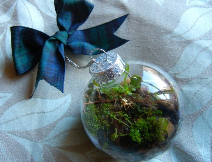 DIY How to Make a Terrarium Christmas Ornament