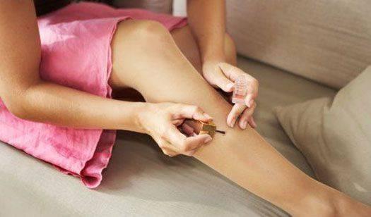 Stop pantyhose runs with clear nail polish