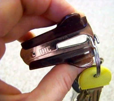 Use a staple remover to add keys to key rings without breaking a nail