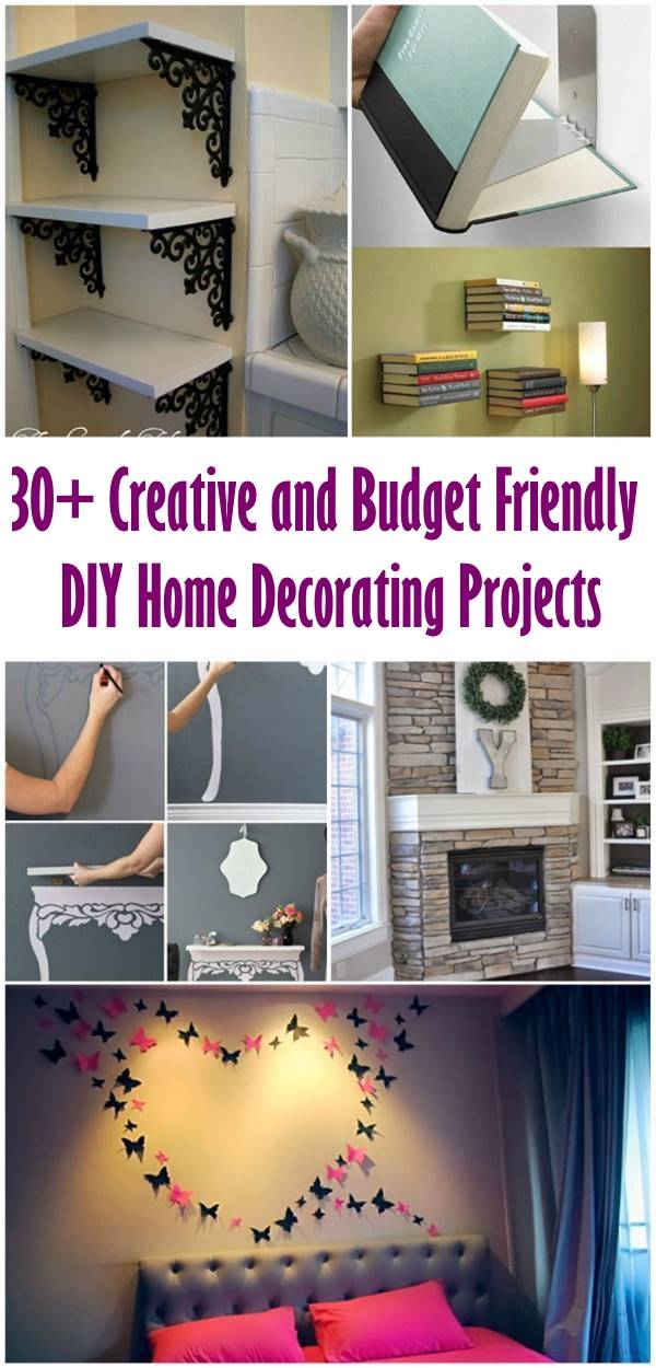 30+ Creative and Budget Friendly DIY Home Decorating Projects - i ...