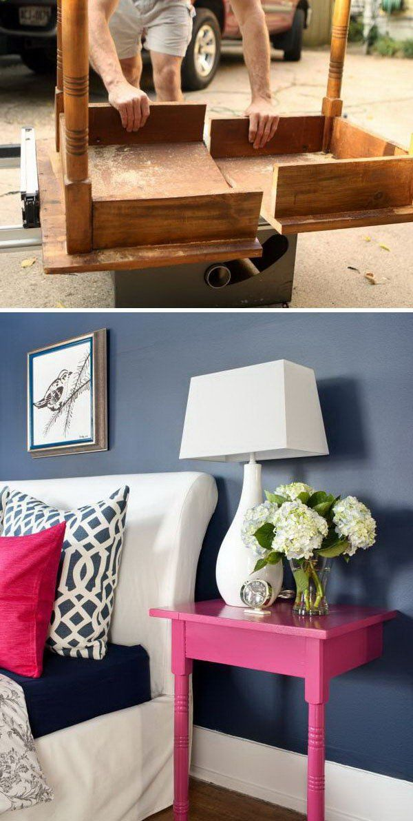 Turn an Unused Table into a Pair of Stylish and Useful Nightstands