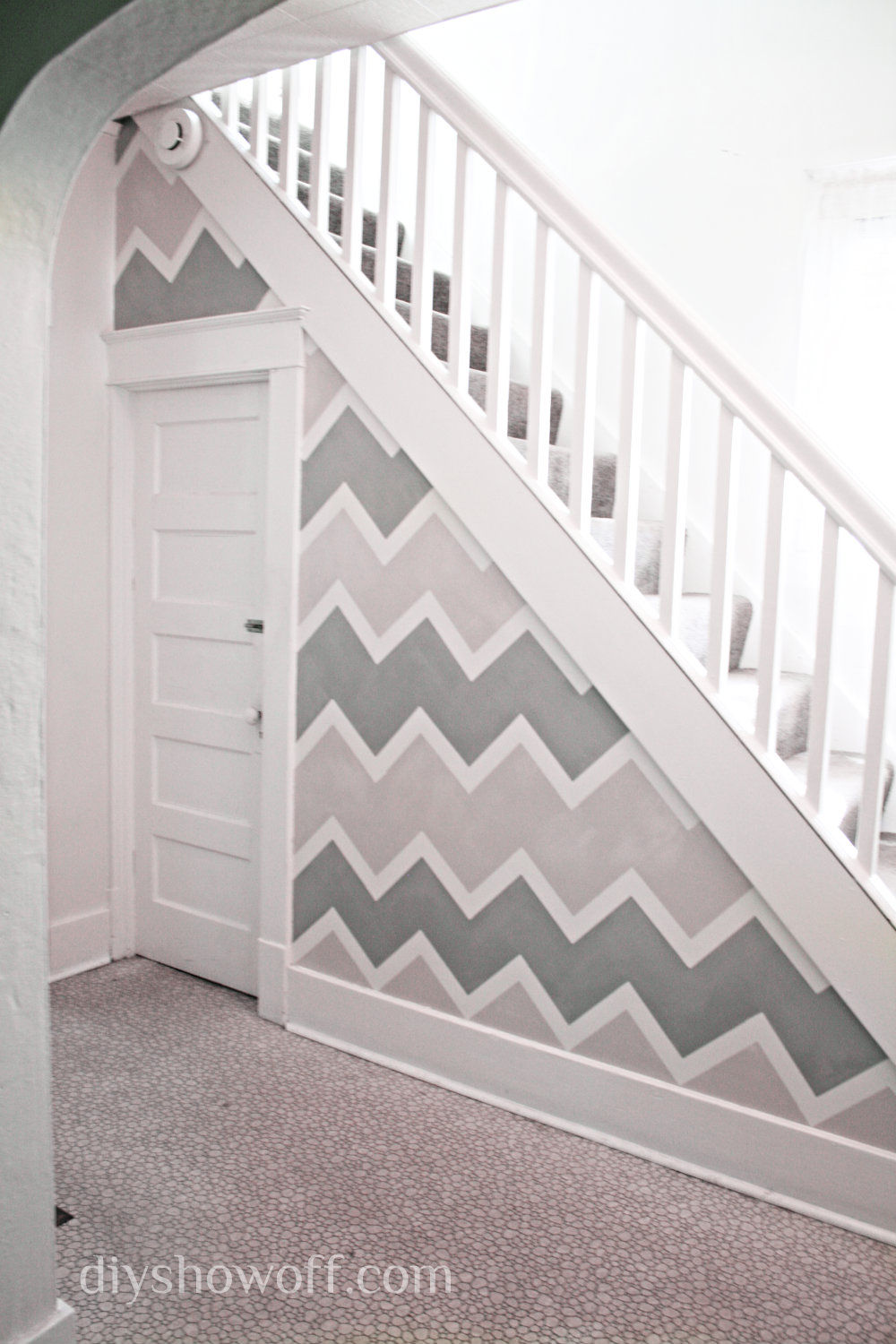DIY Chevron Accent Wall