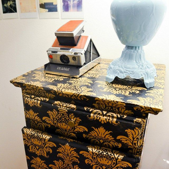 DIY Decoupaged Night Stand