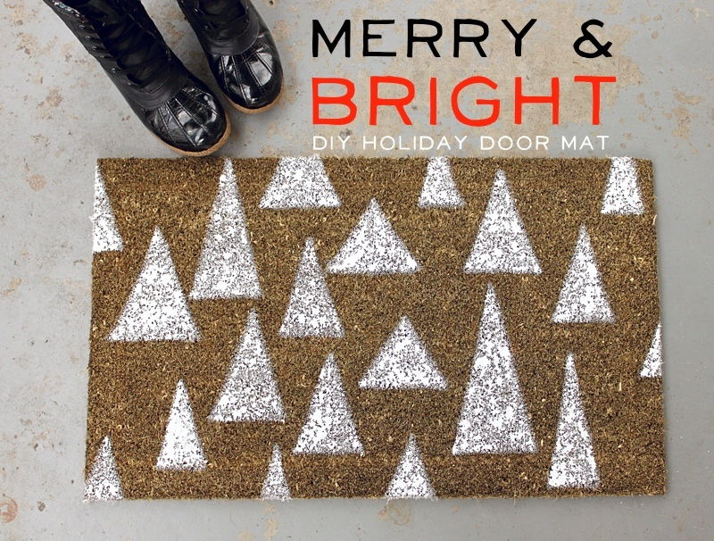 DIY Holiday Door Mat