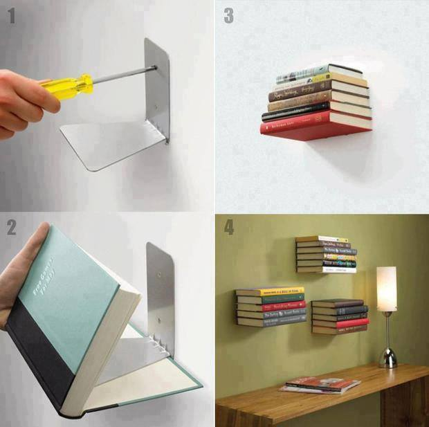 DIY Invisible Bookshelf