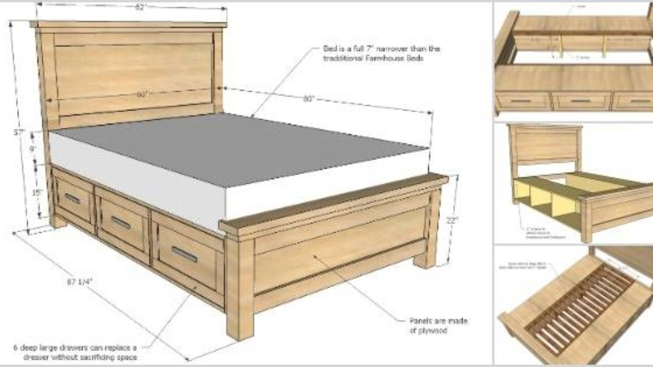 25 Creative Diy Bed Projects With Free Plans I Ideas