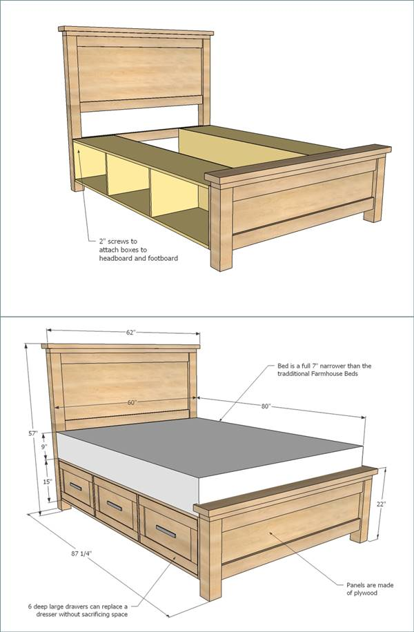 25+ Creative DIY Bed Projects with Free Plans - i Creative ...