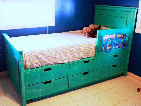 DIY Fillman Storage Bed with Drawers